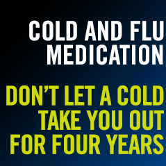Check what cold and flu medication is permitted in sport